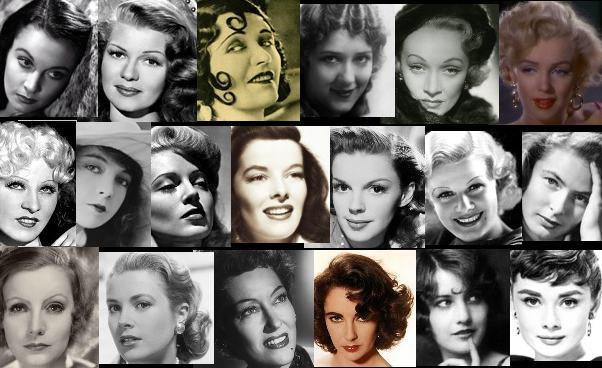 Amerykańskie aktorki filmowe - biografie Historia Hollywood Stare Kino