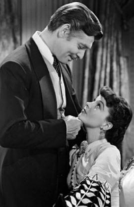 Clark Gable Vivien Leigh Przeminęło z wiatrem 1939 złote lata Hollywood