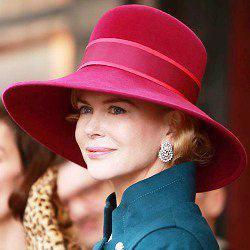 Kapelusz elegancki luksusowy Nicole Kidman Grace Księżna Monako