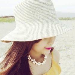 Kapelusz na lato dla kobiet biały na plażę