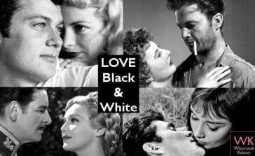 Czarno-białe zdjęcia Oblicza miłości Gwiazdy filmowe złote lata Hollywood