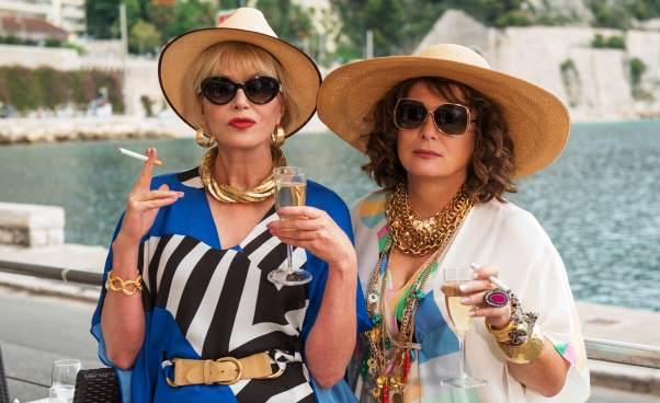 """""""Absolutnie fantastycznie: Film"""" komedia brytyjska zKate Moss, Jennifer Saunders iJoanną Lumley"""