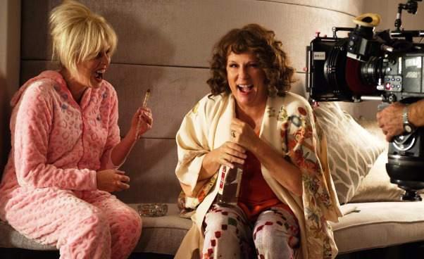 Komedia brytyjska Kate Moss Absolutnie fantastycznie Film Jennifer Saunders Joanna Lumley Recenzja