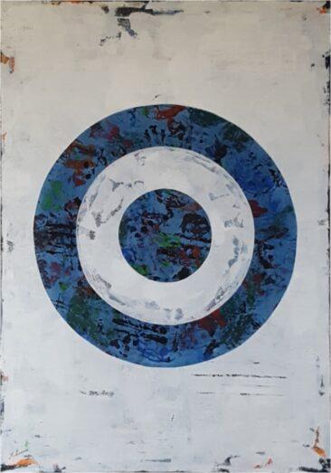 Malarstwo abstrakcyjne malowane ręcznie na płótnie M Lamoro obrazy sztuka współczesna Białe wytrawne na dnie oceanu