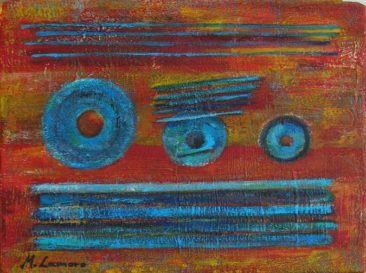 """Dobry dzień"" 2013, akryl na płótnie, 24 x 18 cm, © M. Lamoro"
