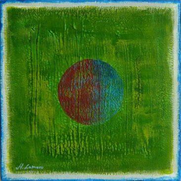 Obrazy na płótnie dobre malarstwo abstrakcyjne na płótnie galeria sztuka nowoczesna M Lamoro Zielone dwadzieścia cztery godziny