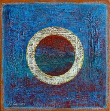 Polecane obrazy ręcznie malowane malarstwo współczesne abstrakcyjne galeria na płótnie sztuka M Lamoro Niebieska doba