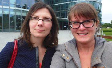 Monika Magoska Suchar Sylwia Dubielecka autorki ksiażki Klątwa przeznaczenia przyjaciółki historia przyjaźni