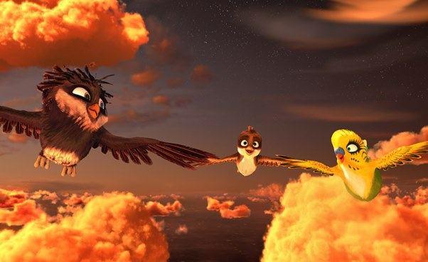 Recenzja filmu dla dzieci Riko prawie bocian bajka animowana obocianach małym wróbelku Opinie