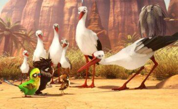 Riko prawie bocian film dla dzieci bajka animowana o bocianach małym wróbelku Opinie opis Recenzja