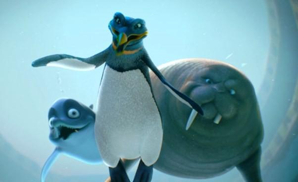 Animacja dla dzieci ozwierzętach morskich Dudi Cała naprzód Recenzja opis film oośmiorniczkach podwodny świat oceanu