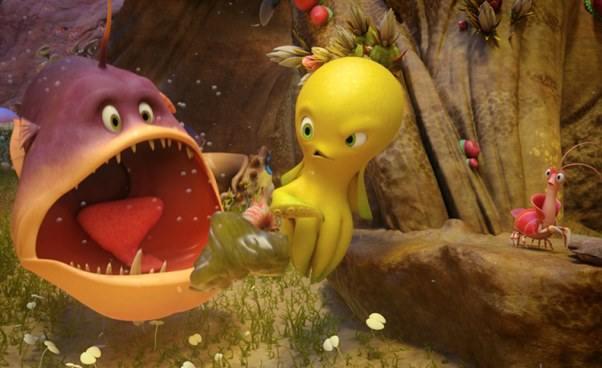 Bajka animowana dla dzieci omałej ośmiornicy Dudi Cała naprzód Recenzja opis filmu ozwierzętach morskich