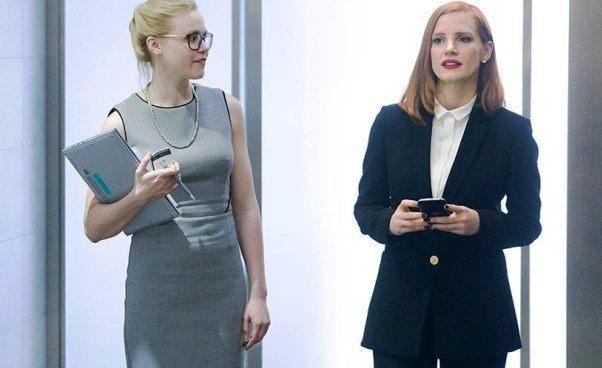 Ciekawy film Jessica Chastain Sama przeciw wszystkim Miss Sloane dramat thriller okobiecie lobbystce Recenzja filmu