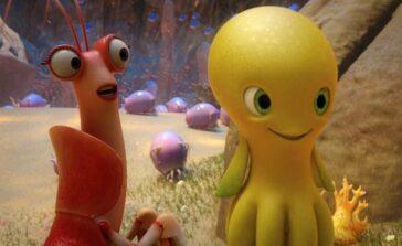 Dudi Cała naprzód bajka animowana dla dzieci o małej ośmiornicy Recenzja opis filmu o zwierzętach morskich