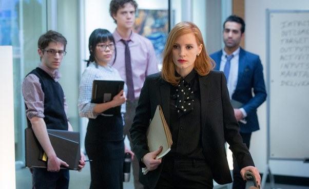 Sama przeciw wszystkim Miss Sloane dramat thriller polityczny o kobiecie lobbystce Jessica Chastain Recenzja filmu