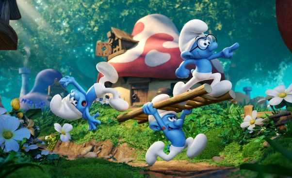 Smerfy poszukiwacze zaginionej wioski nowy film kinowy animowany oSmerfach dla dzieci Recenzja opinie opis fabuły