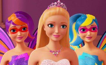 Barbie wszystkie filmy bajki spis filmiki dla dziewczynek Barbie Super księżniczki