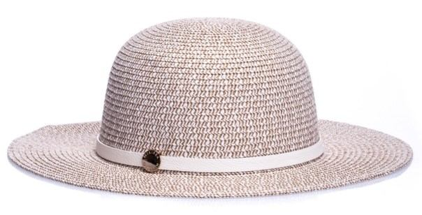 Jasnobrązowy kapelusz damski melissa odabash via della spiga