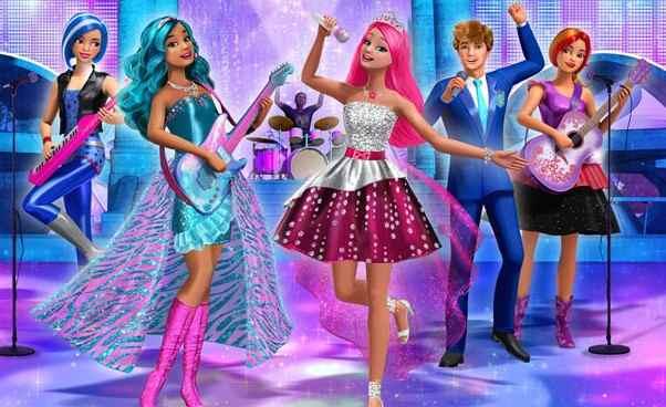 Lista bajek filmów oBarbie zpolskim dubbingiem Barbie Rockowa księżniczka