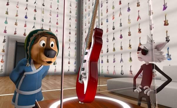 Bajka muzyczna opsie ikocie Rock Dog Pies ma głos film animowany dla dzieci Opinie opis fabuły