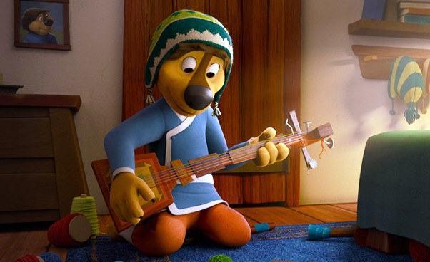 """""""Rock Dog. Pies ma głos!"""" bajka animowana dla dzieci opsie, któryśpiewa igra nagitarze. Recenzja"""