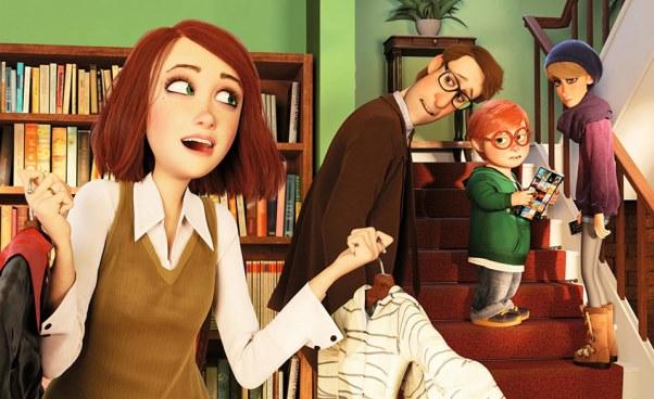 Film familijny dla dzieci Potworna rodzinka 2017 animowana komedia orodzinie zamienionej wpotwory Halloween Streszczenie