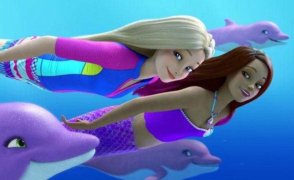 """Najnowsza bajka oBarbie, delfinach isyrence """"Barbie: Delfiny zMagicznej Wyspy"""" 2017"""