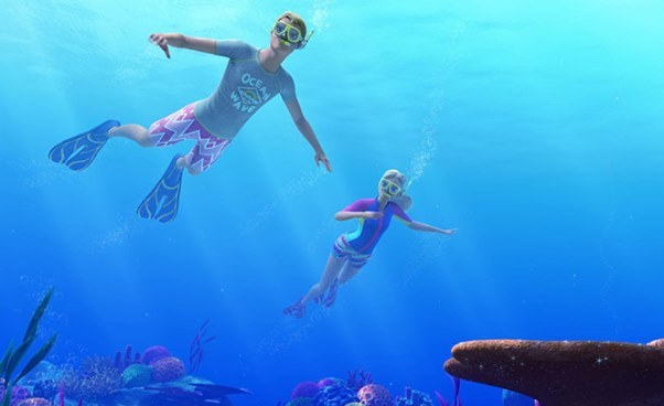 Nowa seria bajek oBarbie pierwsza część Barbie Delfiny zMagicznej Wyspy opis streszczenie filmu imiona bohaterów jak się kończy