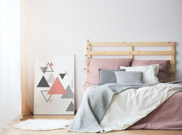 Plakaty zgeometrycznymi wzorami minimalistyczne wstylu skandynawskim Ozdoby naścianę wystrój wnętrz