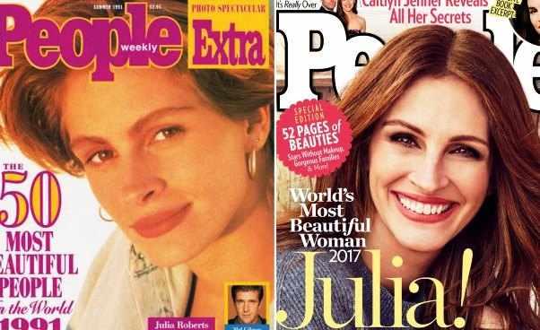 Najpiękniejsza kobieta świata ranking pełna lista magazynu People od początku Julia Roberts