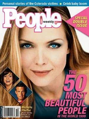 Najpiękniejsza kobieta naświecie pełna lista ranking magazynu People odpoczątku Michelle Pfeiffer