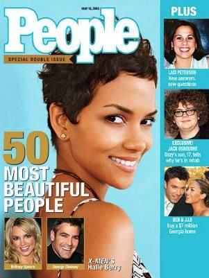Po kolei lista najpiękniejszych kobiet naświecie chronologicznie Halle Berry magazyn People