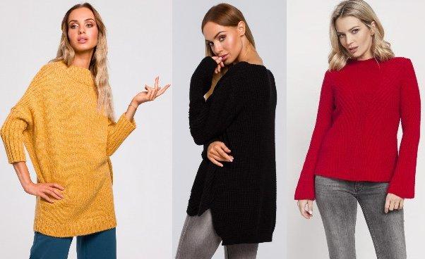 Swetry damskie Kardigany ciepłe swetry dopasowane oversize