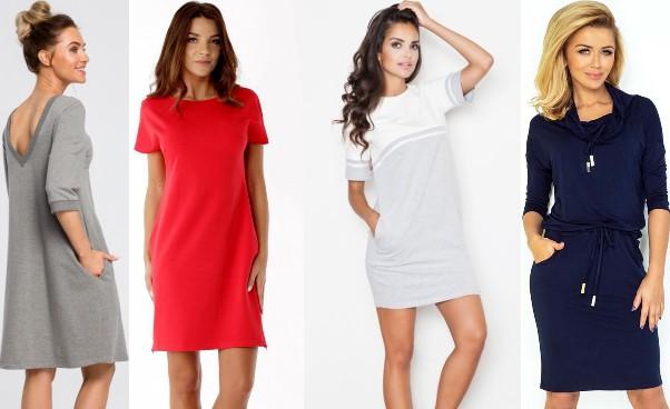 Sukienka dresowa idealny outfit nachłodne dni Przykłady sukienek dresowych naco dzień