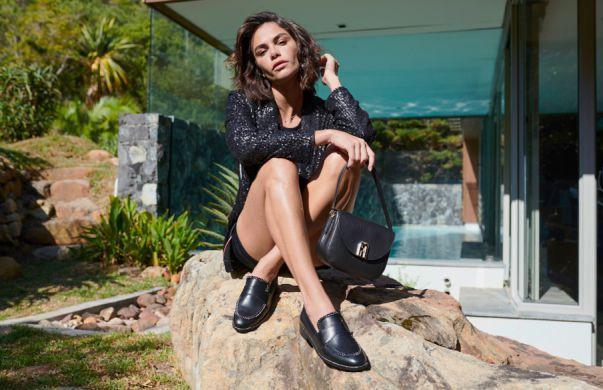 Czarne mokasyny damskie marki Eva Minge ponadczasowe buty rabat przecena