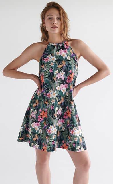 Tania sukienka wkwiaty